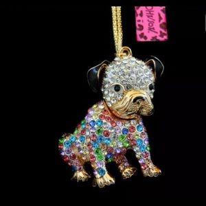 Cute Betsey Johnson dog necklace